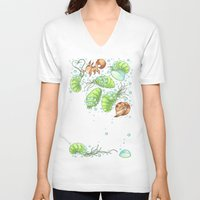 nausicaa V-neck T-shirts featuring The Fox & The Ohmu  by Dani K Design
