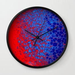 Red Web Wall Clock
