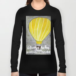 Yellow hot air balloon Long Sleeve T-shirt