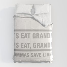 Let's Eat Grandma Commas Save Lives Comforters