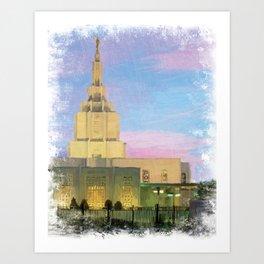 Idaho Falls Idaho LDS Temple Art Print