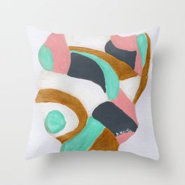 Multicolored Rock Throw Pillow