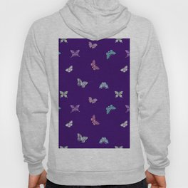 Christmas Butterfly Ornaments on purple Hoody