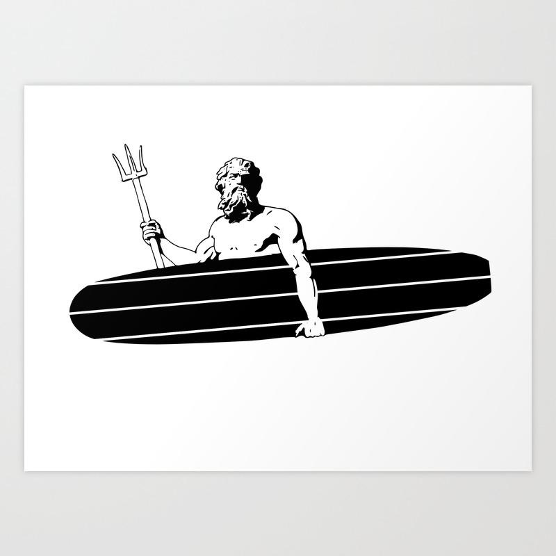 Surf God Art Print by Saltysurfsalad PRN8309865
