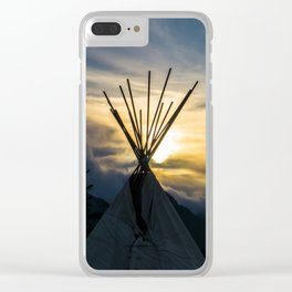 Alaskan Campout Clear iPhone Case