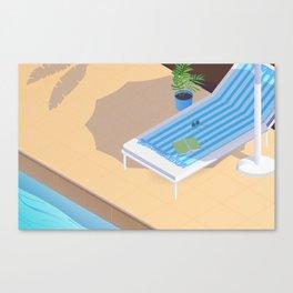 Down Time: Pool Canvas Print