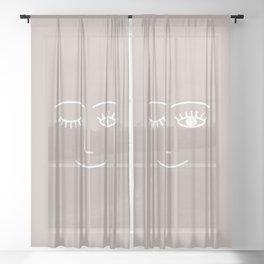 Wink (pink beige) Sheer Curtain