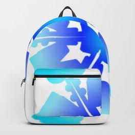 Blue Snowflake Design II Backpack