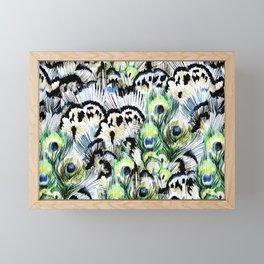 Dancing Peacock Framed Mini Art Print