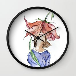 Olor a flor Wall Clock