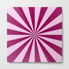 Sun Beams in Pink and Cerise Metal Print