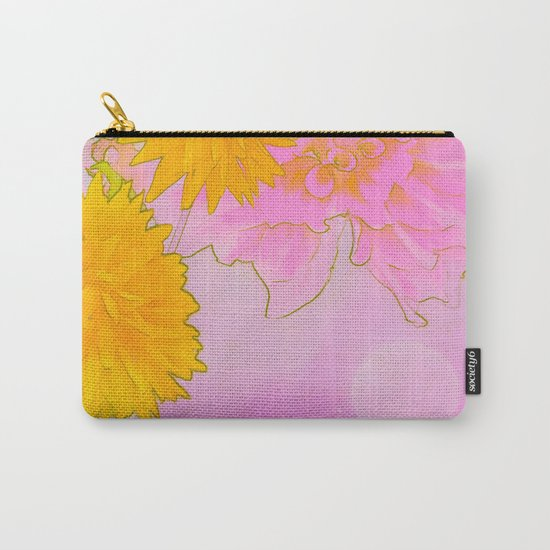 Pink & Gold Floral Carry-All Pouch