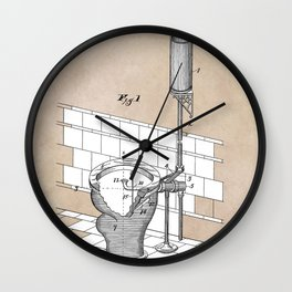 patent art Rhodes Water Closet 1899 Wall Clock
