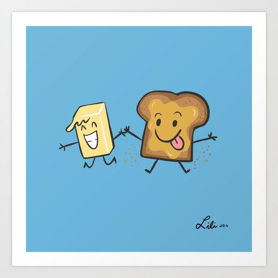 Kaya Toast Art Print