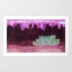 The Indian Ink Peaks 4 Art Print