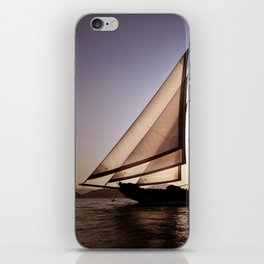 big beautiful sailboat iPhone Skin