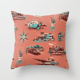 WELCOME TO PALM SPRINGS Throw Pillow