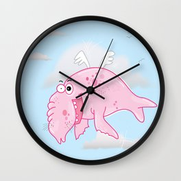 Elephant Seal In The Sky Wall Clock