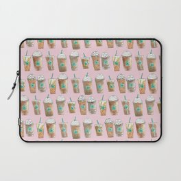 Coffee Cup Line Up in Pink Berry Laptop Sleeve