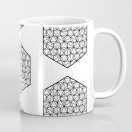 Low Poly Hexagon - Geometric Mandala (Black) Coffee Mug
