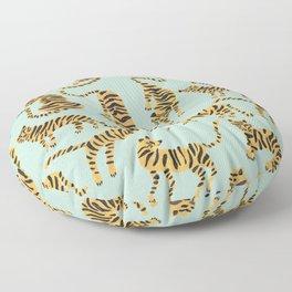Tiger Collection – Mint & Orange Floor Pillow