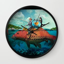 Fish Taxi Wall Clock