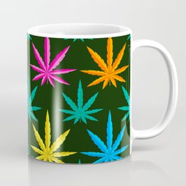 Colorful Marijuana weed Coffee Mug