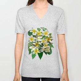 Plumeria Flowers Unisex V-Neck