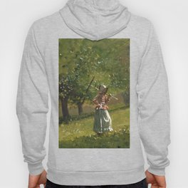 Girl With Hay Rake 1878 By WinslowHomer | Reproduction Hoody