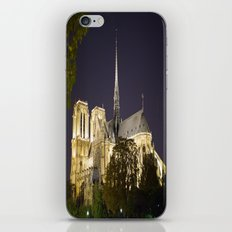 Notre Dame at Night iPhone & iPod Skin