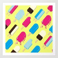 popsicle Art Prints featuring Popsicle by Sher Mavro ART