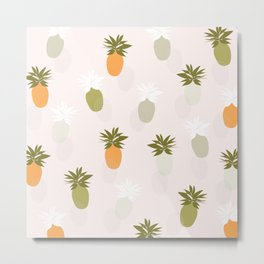 Modern Pineapple Metal Print