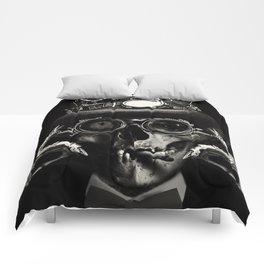 'Steampunk Deceased' Comforters