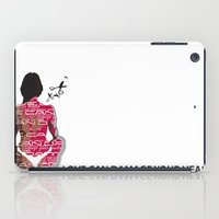 health iPad Cases featuring Love can damage your health by Sedef Uzer