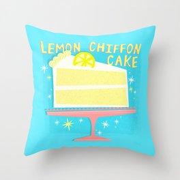 All American Classic Lemon Chiffon Cake Throw Pillow