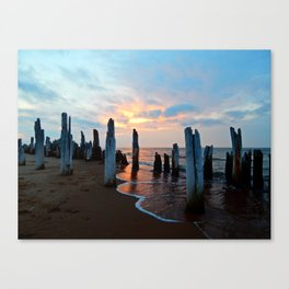 Pillars of the Past at Dusk Canvas Print
