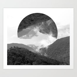 moutains Art Print