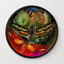 Butterfly Effect Blue Planet Wall Clock