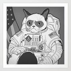 The Grumpiest Astronaut Art Print