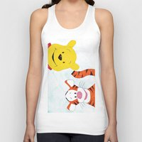 winnie the pooh Tank Tops featuring winnie the pooh and tigger by Art_By_Sarah