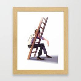 Ladder rest Framed Art Print