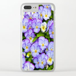 Horned pansy Clear iPhone Case