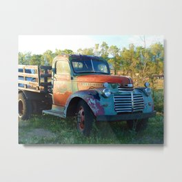 Santa Fe Truck Metal Print