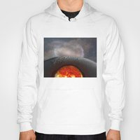 the moon Hoodies featuring Moon by Baris erdem