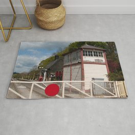 Darley Dale crossing - colour Rug