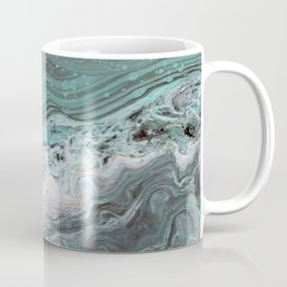 Teal Flow Abstract Acrylic Painting Coffee Mug