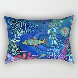 Botanical Sea Garden Rectangular Pillow