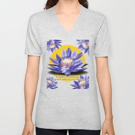 Yoga-Lotus Flower Expect Nothing Appreciate Everything Unisex V-Neck