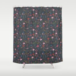 Wildflowers in Twilight Shower Curtain