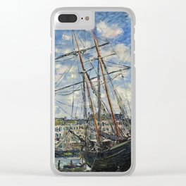 Claude Monet - Boat Lying At Low Tide Clear iPhone Case